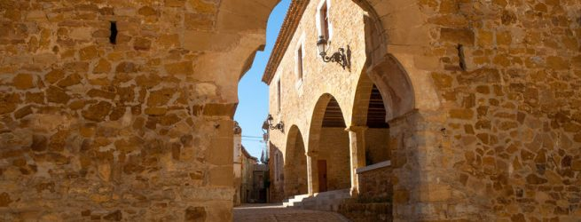 Benassal Arc de la Mola Benasal in Maestrazgo Castellon at spain
